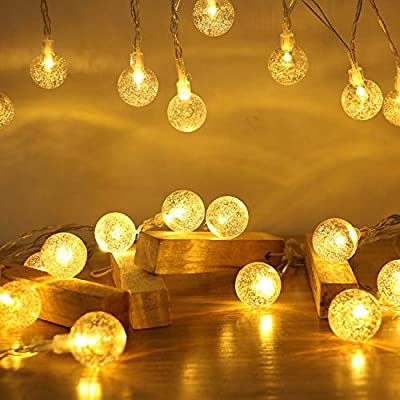 ECOWHO LED String Lights Battery Operated, 40 LED 15FT 8 Lighting Modes Waterproof Globe String Lights for Bedroom, Patio, Christmas, Wedding, Party, Indoor, Outdoor (Warm White)