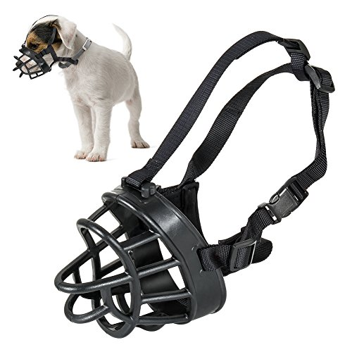 Openuye Soft Rubber Dog Basket Muzzle, Quick Fit Dog Muzzle for Stop Biting, Snapping, Chewing, Allows Drinking, Panting, 5 Size Available