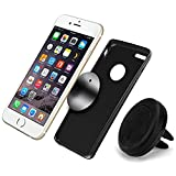 Universal Car Cell Phone Holder, A+ Magnetic Car Phone Mount Smartphone Holder for iPhone 6, 6S Plus Samsung Galaxy S7 S6 Edge Sony HTC NOKIA and other phones. Holds your phone QUICK and EASY!