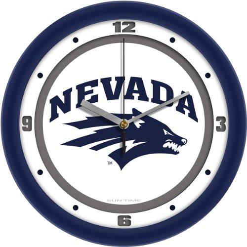 (SunTime NCAA Nevada Wolfpack Traditional Wall Clock)
