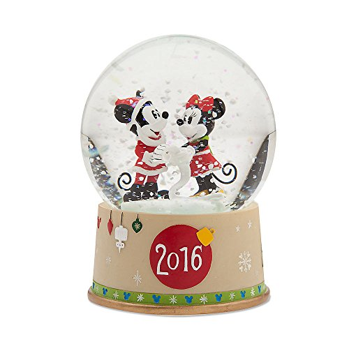 Disney Mickey Mouse & Minnie Mouse Snowglobe- Holiday - Mouse Snowglobe Mickey