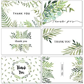 thank you cards baby and bridal shower thank you cards 4x6 thank you cards bulk thank you cards wedding blank on the inside watercolor foliage thank