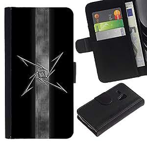 A-type (Estrella tribal) Colorida Impresión Funda Cuero Monedero Caja Bolsa Cubierta Caja Piel Card Slots Para Samsung Galaxy S3 MINI 8190 (NOT S3)