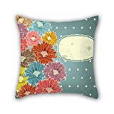 PILLO pillow cases of flower,for coffee house,kids room,car seat,office,her,him 16 x 16 inches / 40 by 40 cm(two sides)