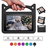 All-New F ire 7 2017 Case,F ire 7 Tablet Case for Kids, Riaour Kids Shock Proof Protective Cover Case for F ire 7 Tablet (2015&2017 Release)(Black)