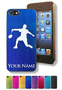 Apple Iphone 5/5S Case/Cover - BADMINTON PLAYER - Personalized for FREE (Click the CONTACT SELLER button after purchase and send a message with your case color and engraving request)