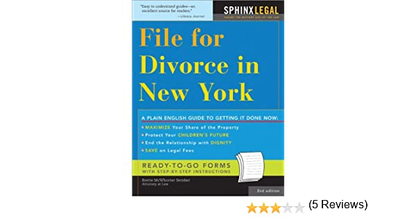 File For Divorce In New York Legal Survival Guides Brette McWhorter Sember 0760789216077 Amazon Books
