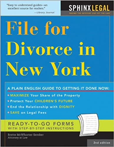File For Divorce In New York Legal Survival Guides 2nd Edition