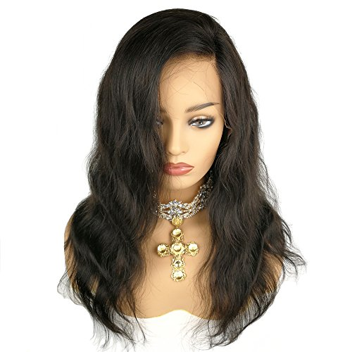 Human Hair 360 Lace Wig Natural Wave Wavy Body Wave Brazilian Virgin Hair 150% Density Pre plucked Hairline Natural Color with Baby Hair Bleached Knots Glueless(360 Lace Wig, 14 inches) by HR honrin hair (Image #3)