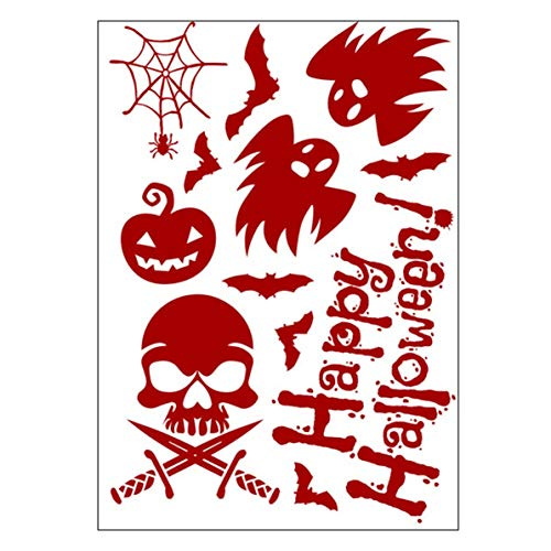 Horror Realistic Blood Injury Scar Wound Stickers Fake Tattoos Costume Makeup Halloween Decorations Festival Party Props