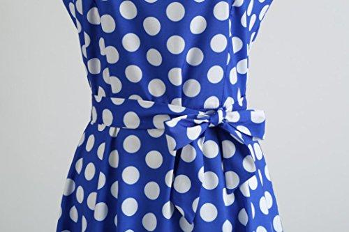 de Robe Genou en Au Fte Lache Dessus Dames Mode Robe Tefamore Bleu Soie Mini de Femmes Dentelle du Mousseline 6nx1vqgBw