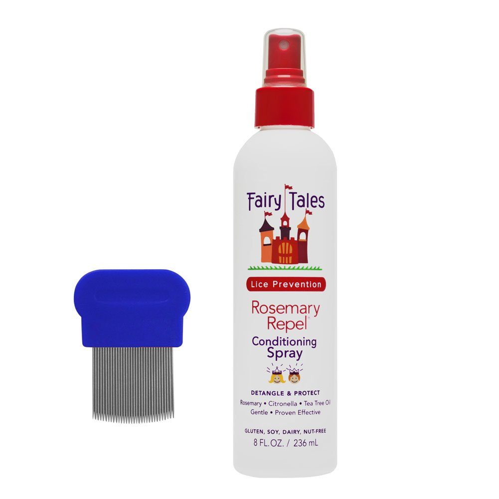 Bundle of Two Items: Fairy Tales Rosemary Repel Leave In Conditioning Spray 8 oz with American Comb Metal Lice Comb