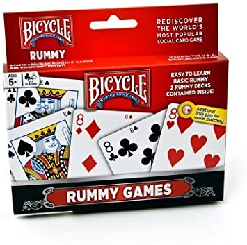 Bicycle Rummy Games Playing Cards by Bicycle: Amazon.es: Juguetes y juegos