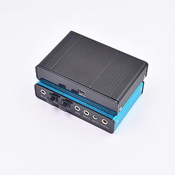 DSstyles - Tarjeta de Sonido USB de 6 Canales, 5,1, Fibra ...