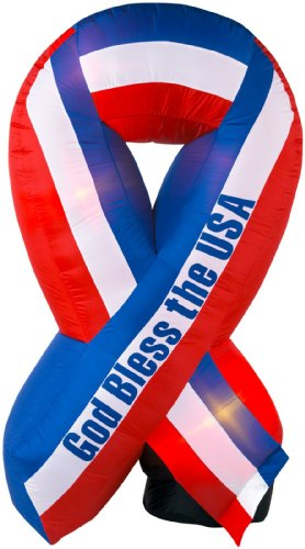 God Bless America Inflatable Patriotic Ribbon 6' - Outlet Americas Mall