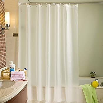 Uforme Classic Solid Shower Curtain Liner PEVA Eco Friendly Home Decor Bathroom Mildew Resistant