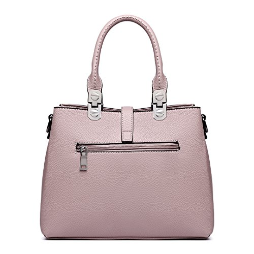 Shoulder Bags Top Women Pu Bags Handbags for female Lady Handle Miss Pink Leather Office Lulu wCqvnZU