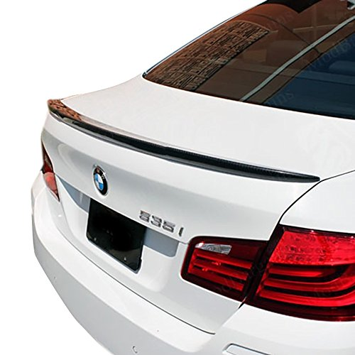 Price comparison product image BMW Carbon Fiber Spoiler,  Carbon Fiber Trunk Spoiler,  Fits 2012-2017 BMW 5 Series F10 / M5 528i 535i 550i 530i 530e 540i 540d M550i Carbon Fiber Rear Tail Lip Deck Boot Wing,  BMW 5 Series Sedan