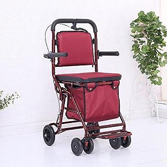 Amazon.com: luckyyan Big silla portátil de Rolling, las ...