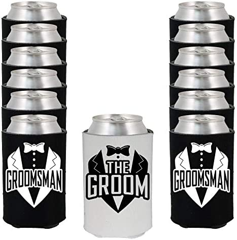 Shop4Ever Groomsman Wedding Coolers Coolies product image