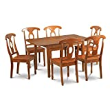Cheap East West Furniture MLNA7-SBR-W 7-Piece Kitchen Nook Dining Table Set