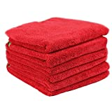 Chemical Guys MIC_997_6 Fluffer Miracle Supra Microfiber Towel, Red (24 in. x 16 in.) (Pack of 6)