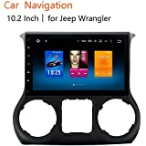 Dasaita 10.2 inch Large Screen Unviersal Double Din Car GPS Stereo 4G+32G OCTA-Core Chip For Jeep Wrangler 2015 2016 2017 With Blutooth Wifi Car Audio 8G Meomery Card With for Gift