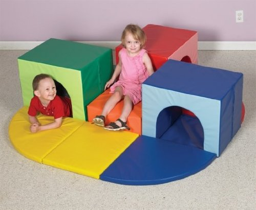 Childrens Factory CF322-376 Triple Crawl Thru Climber by Children's Factory