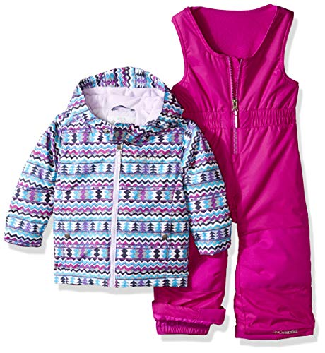 Columbia Kids & Baby Toddler Kids Frosty Slope Set, Bright Plum Zigzag Print, 2T ()