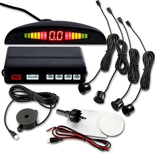 YueYueZou® Car Vehicle Radar Parking System with 4 Sensors, Buzzing Alert, LED Display