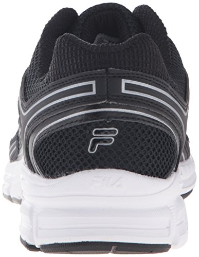 Fila Men's Xtent 4 Running Shoe, Black/Black/Metallic Silver, 9 M US
