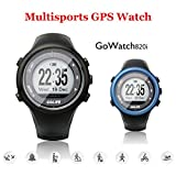 Golife Running GPS Watch, Compatible with iOS and Android, 5ATM Waterproof, Outdoor Smart Sport Watch for Men Triathlon Swimming Climbing Hiking Cycling and Running