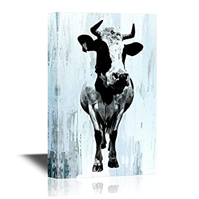 Classic Black and White Cow - Canvas Art