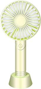 Thinktoo Mini Handheld Fan, USB Desk Fan, Small Personal Portable Table Fan with USB Rechargeable Battery Operated Cooling Folding Electric Fan for Travel Office Room Household