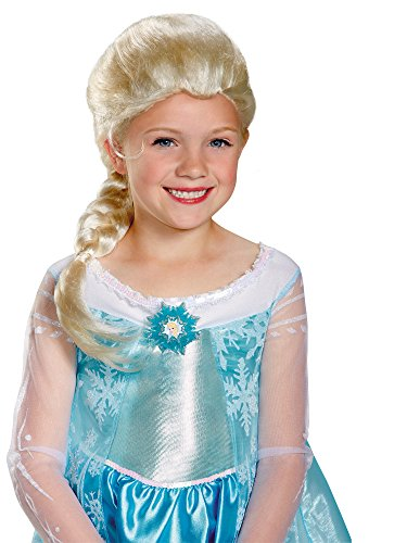 Disguise Disney's Frozen Elsa Child Wig Girls Costume, One Size Child