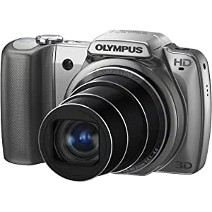 """Olympus SZ-10  14 MP Digital Camera with 28mm Wide-Angle 18x Optical Zoom and 3"""" LCD (Silver) (Old Model)"""