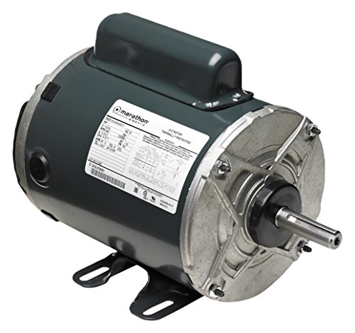 Base Enclosed Totally Rigid Phase (Marathon 5KC37NN3544T Farm Duty Aeration Fan Motor, 1 Phase, Totally Enclosed, Rigid Base, Ball Bearing, 3/4 hp, 3600 rpm, 1 Speed, 115/230 VAC, 56Z Frame, Capacitor Start/Run)