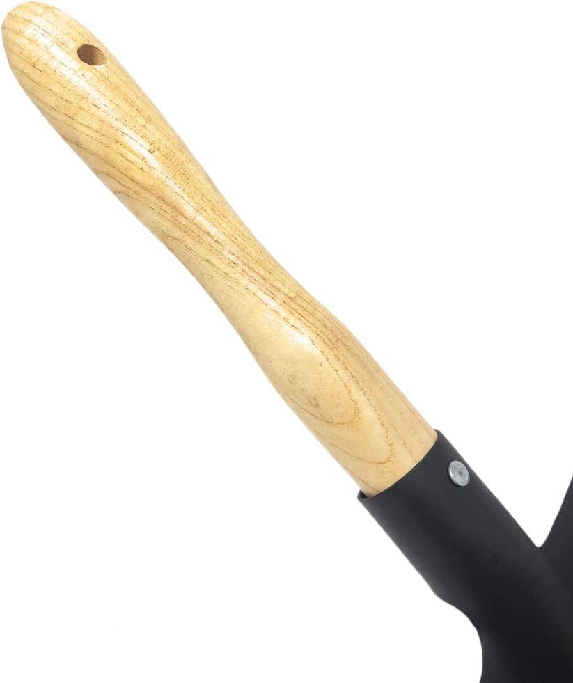 Space Home Schwarz Kaminschaufel Kohlenschaufe Metall Schaufel Kohlenl/öffel mit Holzgriff Kehrschaufel