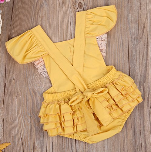 Clothes Romper Climbing Cotton Sleeveless Baby Girls' Yellow Outfits Floral Emmababy 1pwvEZq