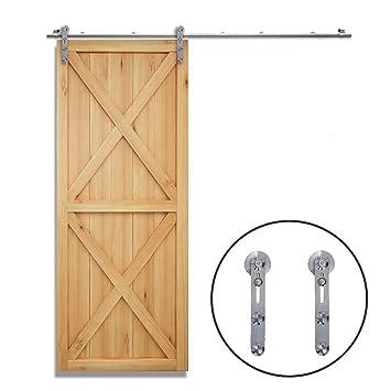 122CM/4FT Herraje para Puerta Corredera Kit de Accesorios para Puertas Correderas Juego de Piezas