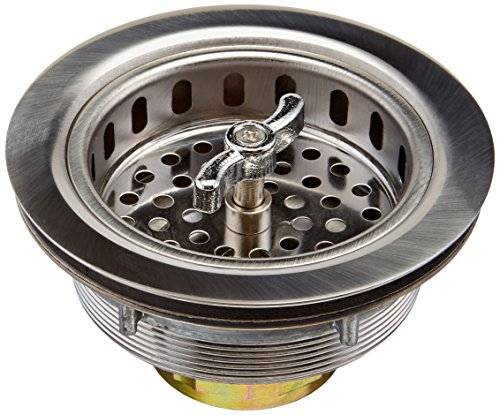 Keeney 1433SS 3-1/2-in dia Twist and Lock Sink Strainer with Basket, Stainless Steel by Keeney Manufacturing