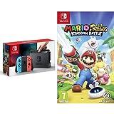 Nintendo Switch - Blu/Rosso Neon + Mario + Rabbids Kingdom Battle