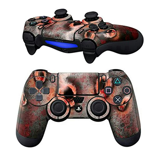 MODFREAKZ Pair of Vinyl Controller Skins - Bloody Bullet Holes for Playstation 4 -