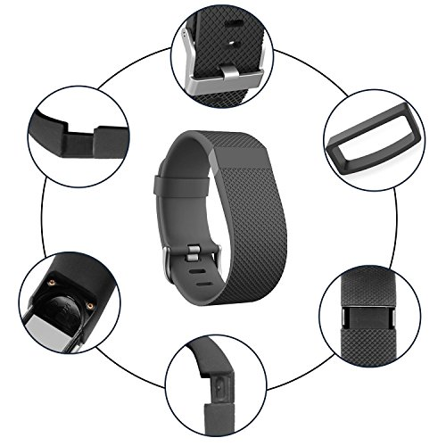 UCAI Replacement Band for Fitbit Charge HR, Fitbit Charge HR Wristbands,Large&Small Bands for Fitbit Charge HR Smart Fitness Watch,Charge HR...