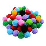 Allure Maek 100 Pack 1.5 Inch Assorted Pom Poms for DIY Creative Crafts Decorations, Assorted Colors