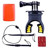 Mouth Mount for GoPro Hero Camera, Kuman Breathable Mouth Mount Set for Parachuting Swimming Rowing Surfing Skiing Climbing Running Diving Sports