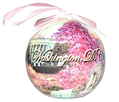 Cherry Blossom White House Christmas Ornament