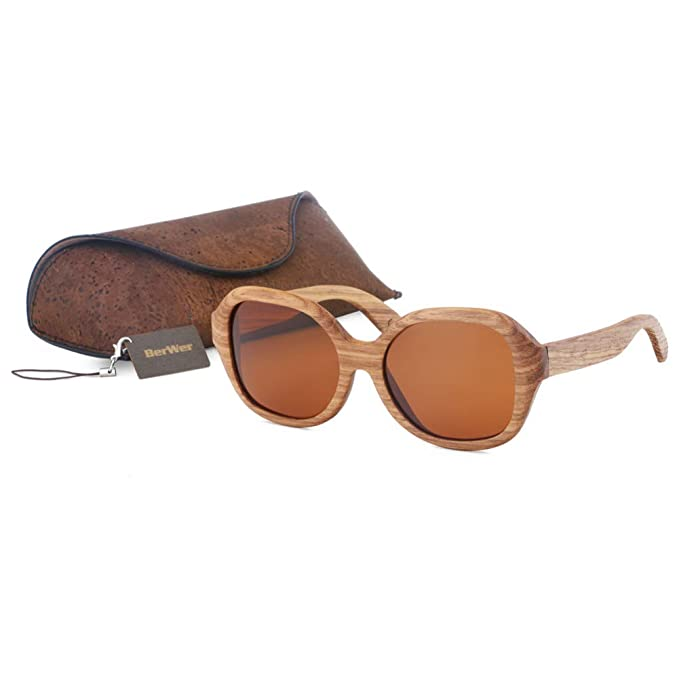 TIANZly Gafas de sol polarizadas Zebra de madera Gafas de ...