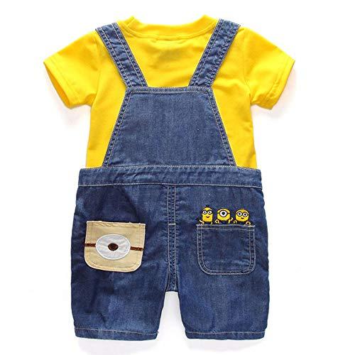Boys Set Children's Denim Shorts Tee Suit Kids Clothes T Shirt Minions Summer Suit (100)]()