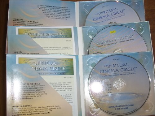 (3) Dvds from THE SPIRITUAL CINEMA CIRCLE Series - Includes 2004 Vol 8, 2005 Vol 1, 2005 Vol 8. Contains 12 films plus bonus (Behind the Scenes - Conservation with God) (Wishing Well Dvd)